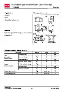 Transmission type Photointerrupters Eco-Friendly type