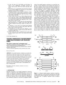 TUNABLE IMPEDANCE TRANSFORMER USING …
