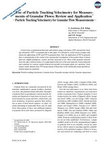 Use of Particle Tracking Velocimetry for Measure
