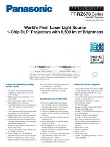 World's First 1 Laser Light Source 1-Chip DLP Projectors